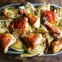 Sheet Pan Roasted Chicken and Cabbage