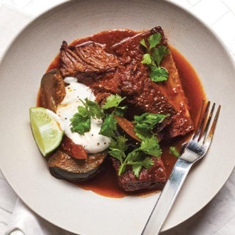 Braised Short Ribs with Squash and Chile